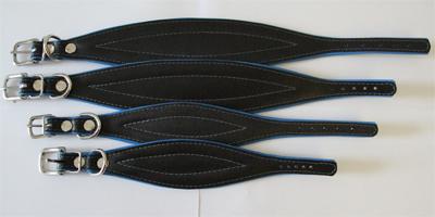 windhonden halsband blauw